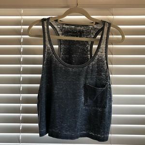 Project Social T Loose Cropped Gray Tank